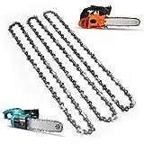 Pathonor 3 Stück Sägeketten 50TG 35 cm 3/8 1,3 mm Halbmeißel Ketten elektrische Kette Tonhöhe...
