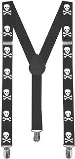 1 Tirantes Elásticos Ajustable Para Pantalones Y-diseño Clip hombre mujer niño calavera pirata