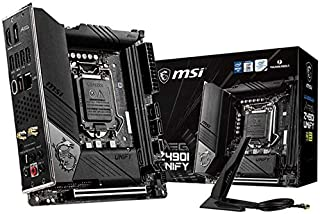 MSI MEG Z490I Unify Gaming Motherboard 64GB DDR4 Mini-ITX M.2 SATAIII RAID 10th Gen LGA1200 1xDP 1xHDMI 1xPCIE 2xDIMM Thun...