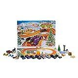 Hot Wheels Calendario de adviento de Navidad con coches de juguete y accesorios (Mattel GTD78)
