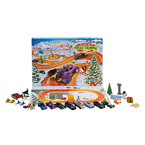 Hot Wheels 2021 Advent Calendar with 24 Surprises That Include 8 1:64...