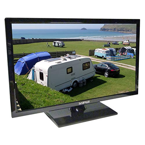 Sniper 22? HD LED Travel TV with built in DVD, Satellite and Freeview, 12V, 24V & Mains. DVB-T2 & DVB-S2