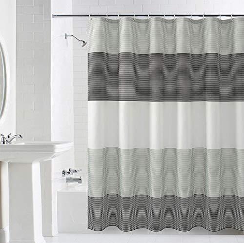 Awalis Duschvorhang, Polyestergewebe, Duschvorhänge für Badezimmer, waschbar, mit 12 Haken, 180 x 200 cm