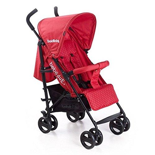 Bebedue - Silla de paseo bebé due goldbaby rojo