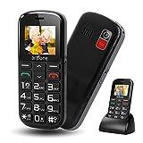 artfone Seniorenhandy ohne Vertrag Dual SIM Handy mit Notruftaste Rentner Handy große Tasten 2G GSM Handy Großtastenhandy mit Ladestation und Kamera 1400 mAh Akku Lange Standby für Alte