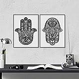 CNHNWJ Handgezeichnete verzierten Amulett Hamsa Hand von