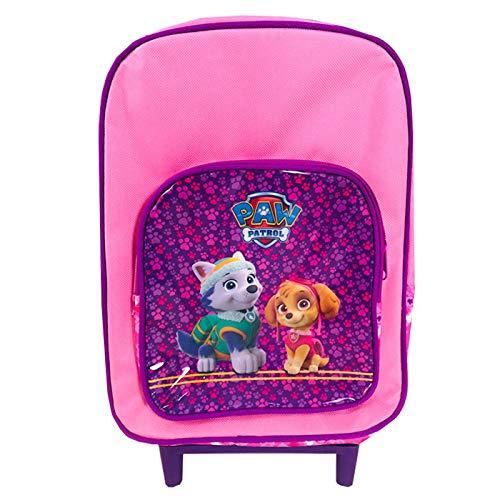 Mochila Trolley Infantil La Patrulla Canina PW Mochila Escolar con Ruedas 35cm Mochila Skye & Everest, Color Rosa