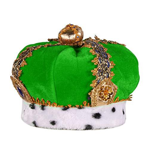 narrenkiste Gorro con diseo de rana, color verde y dorado T2806-0300