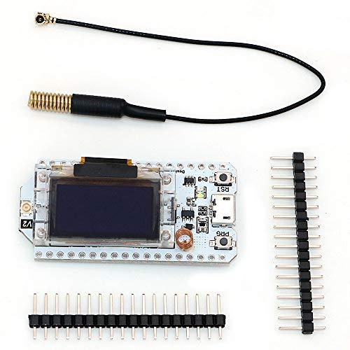 DollaTek 433MHz - 470MHz Lora SX1278 Development Board 0.96 Pantalla OLED ESP32 WiFi Kit 32 Bluetooth Board Development Module IOT para Arduino