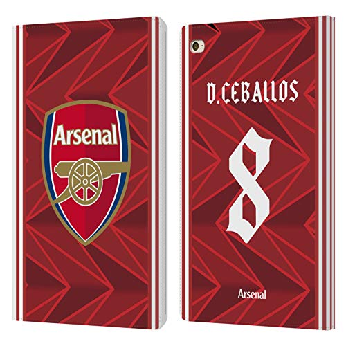 Official Arsenal FC Dani Ceballos 2020/21 Players Home Kit Group 1 Leather Book Wallet Case Cover Compatible For Apple iPad mini 4