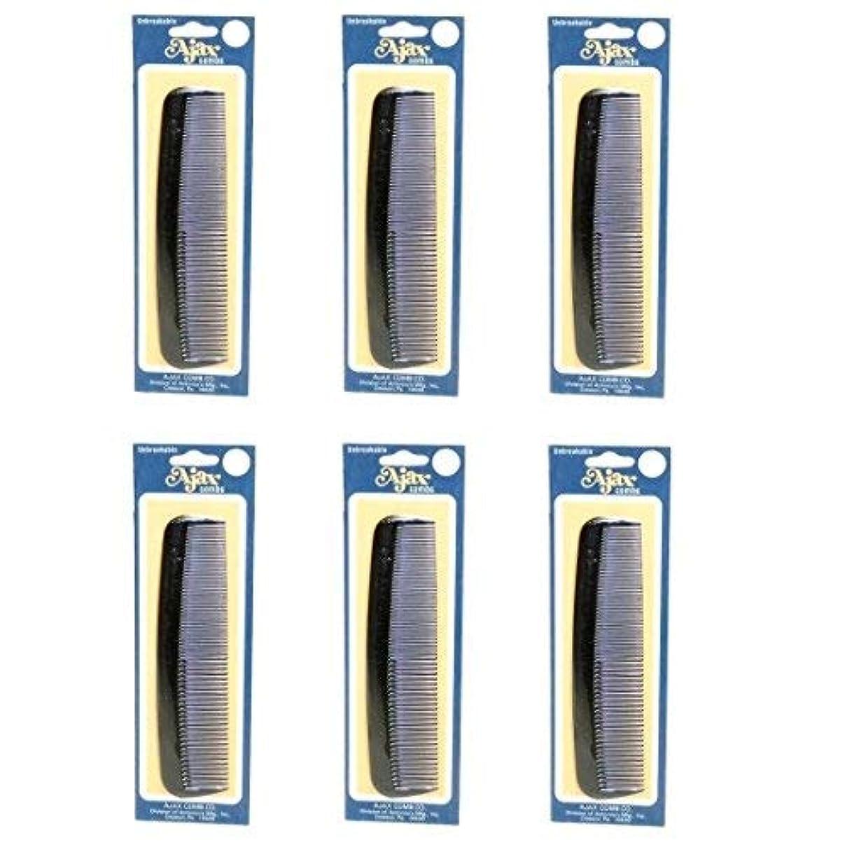確実フラッシュのように素早く識別Ajax Unbreakable Hair Combs Super Flexible Pocket Sized Lifetime Guarantee - Proudly Made in the USA (Pack of 6) [並行輸入品]
