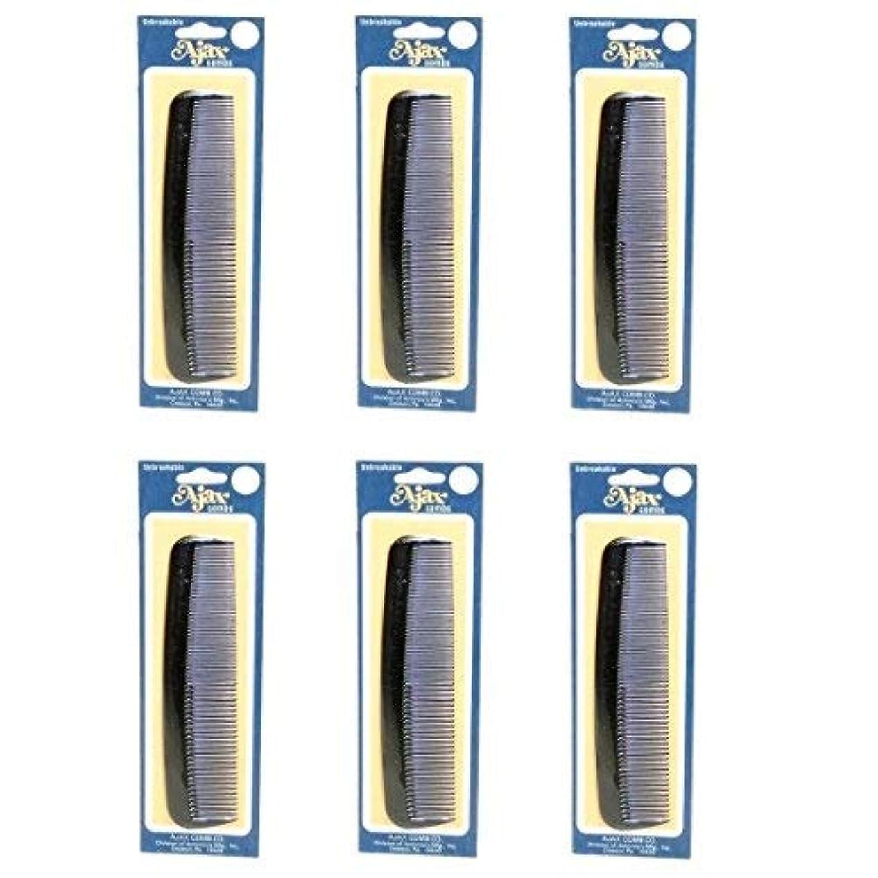 ホイットニーロケットシリーズAjax Unbreakable Hair Combs Super Flexible Pocket Sized Lifetime Guarantee - Proudly Made in the USA (Pack of 6) [並行輸入品]