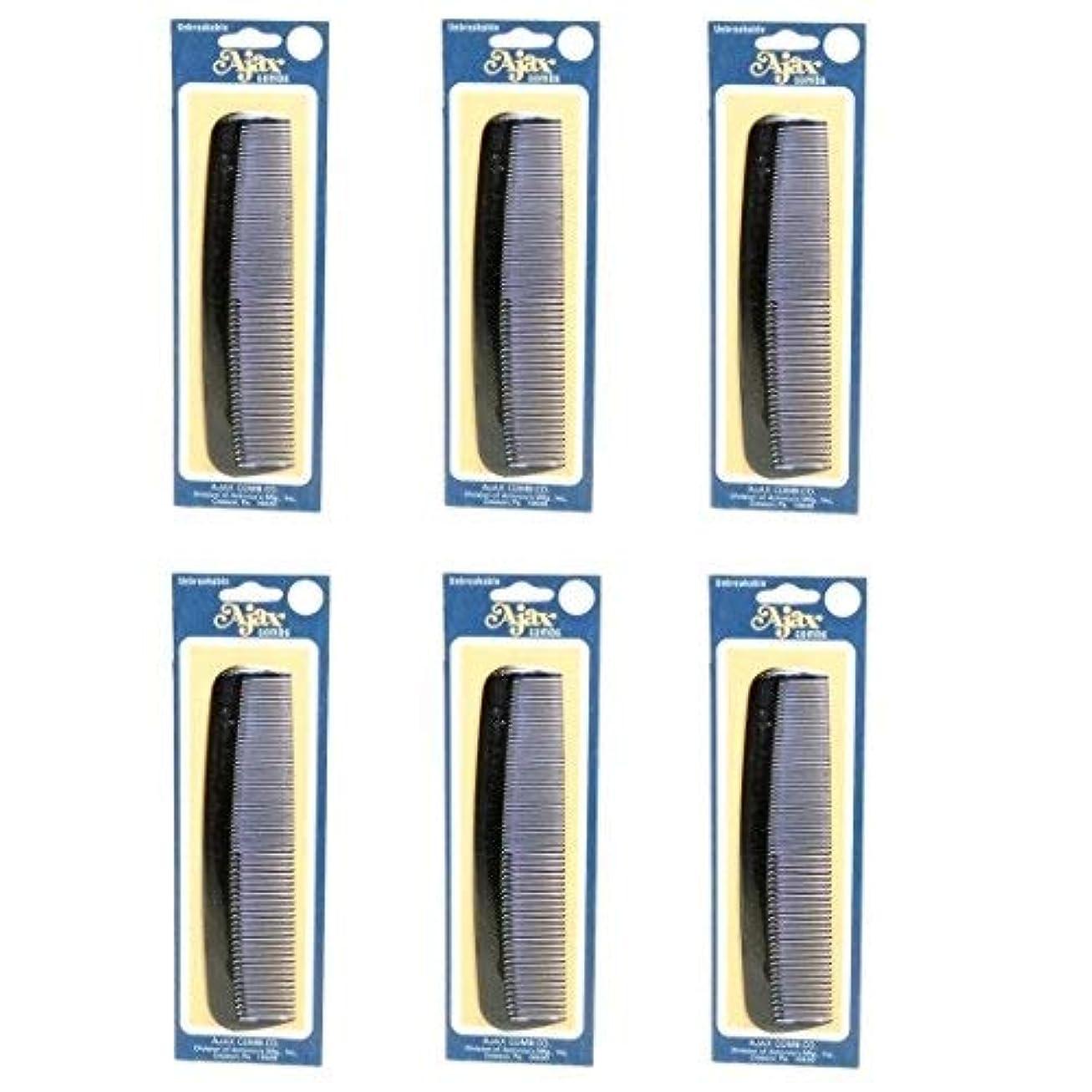 説明する文マトンAjax Unbreakable Hair Combs Super Flexible Pocket Sized Lifetime Guarantee - Proudly Made in the USA (Pack of 6) [並行輸入品]