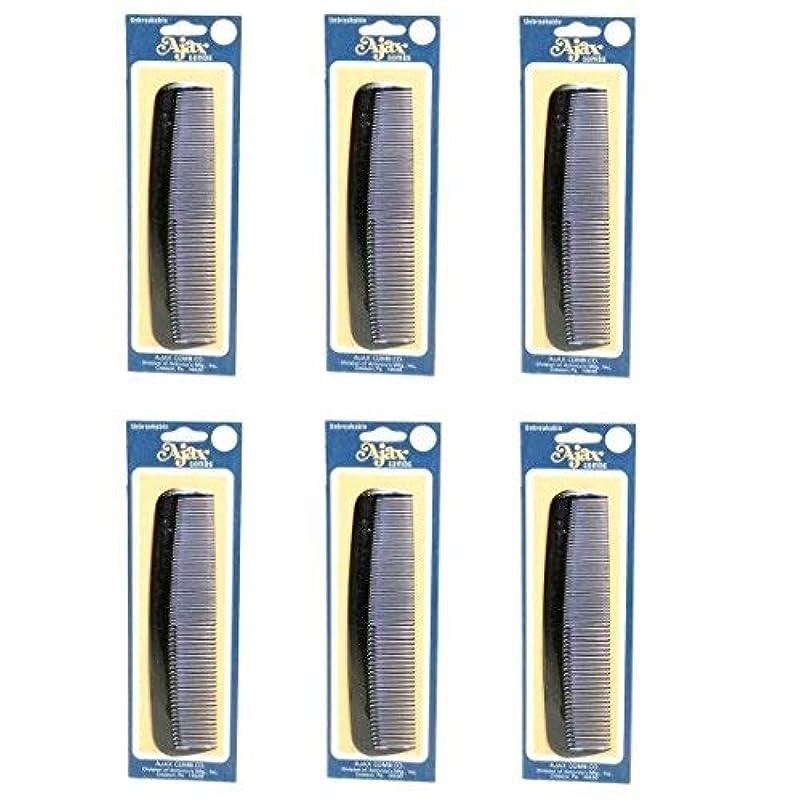 下向き横に無実Ajax Unbreakable Hair Combs Super Flexible Pocket Sized Lifetime Guarantee - Proudly Made in the USA (Pack of 6) [並行輸入品]