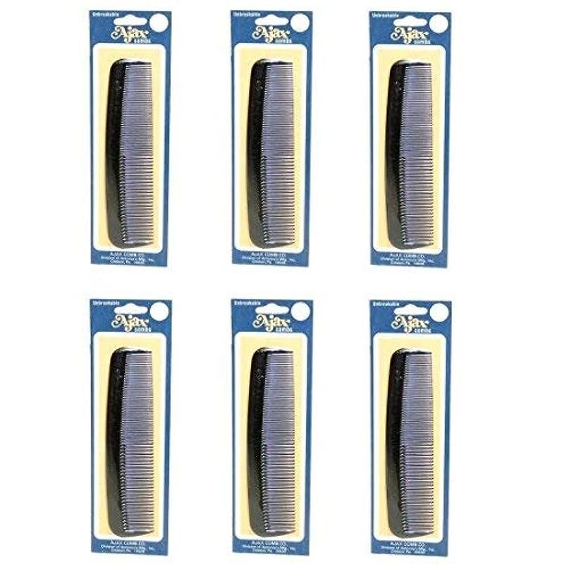 工業化する許容できるピンAjax Unbreakable Hair Combs Super Flexible Pocket Sized Lifetime Guarantee - Proudly Made in the USA (Pack of 6) [並行輸入品]