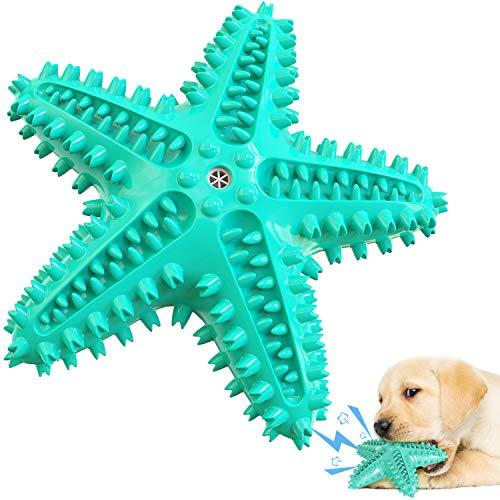 V-HANVER Hundekauspielzeug für Aggressive Kautiere mit Seesternform Hundespielzeug interaktiv zum Reinigen der Zähne, Ungiftig, Robust, Kauspielzeug für Hunde, das für alle Hundegrößen geeignet ist