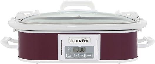 Crock Pot 3.5 Quart Programmable Digital Casserole Crock Slow Cooker, Cranberry
