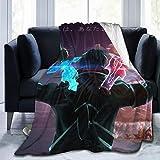 AsakawaKoutarou Sword Art Online Kirito Soft Fleece Throw Casual Blanket for Couch 60'' x50
