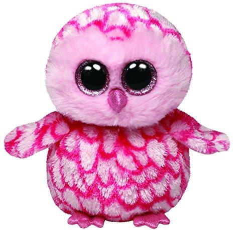 TY 7136094 7136094-Pinky-Schleiereule, Beanie Boos, 15 cm, pink