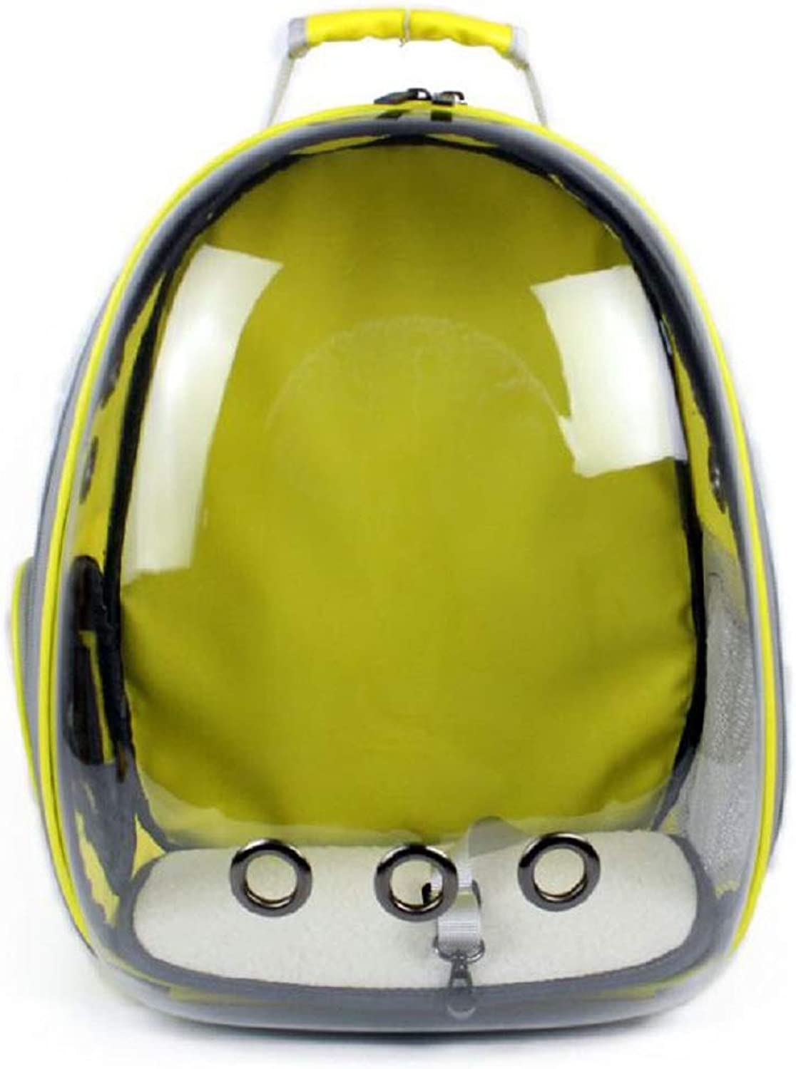 GDDYQ Pet Backpack, New Transparent Panoramic Pet Carrier Bag Vents and Mesh, Suitable for Cats and Small Pets,Yellow
