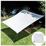 YHPD Proteccion Solar Tela de Sombra Blanco Pantalla de Privacidad Malla ocultacion 80% Índice De Sombreado Red de Sombra HDPE para Patio/Jardín 2 × 2m 3 × 6m 4 × 8m 6 × 8m