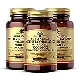 Solgar Methylcobalamin (Vitamin B12) 5000 mcg, 60 Nuggets - Pack of 3 - Supports Energy Metabolism - Body-Ready, Active Form of B12 - Vitamin B - Non-GMO, Vegan, Gluten Free - 180 Total Servings