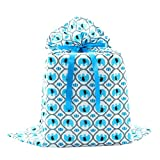 Elephants Reusable Fabric Gift Bag for Baby Shower, Child's Birthday, or Any Occasion (Jumbo 27...