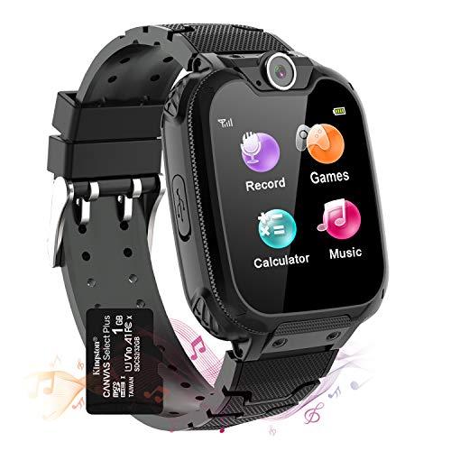 Vannico Smartwatch Kinder, 7 Spiel Musik Kids Smart Watch mit Kameras, Taschenrechner, Rekorder, Wecker, Kind Uhr Telefon mit 1.54'' Touch-LCD für Jungen Mädchen Geschenk