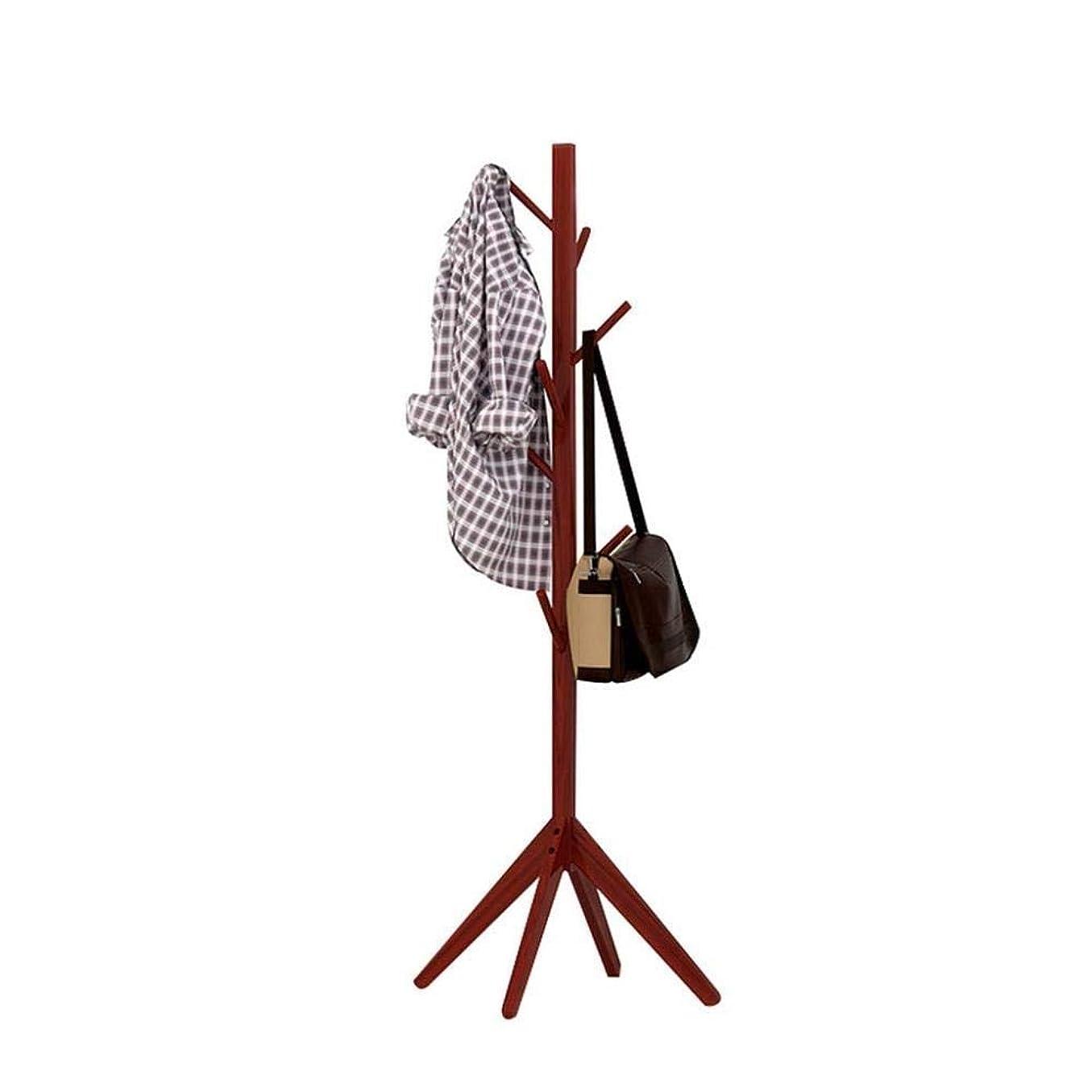 アリカセット感性FNCOAK コートラックホールツリーコートハットラックフリースタンディングモダンエントリーウェイ木製衣類ラックハットコーナーホール傘スタンドツリー (色 : Brown)