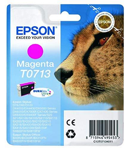 Epson C13T07134011 - Cartucho de Tinta, Paquete Estándar, Magenta Válido para Los Modelos Stylus, Stylus Office BX610FW, BX600FW y Otros, Ya Disponible en Amazon Dash Replenishment, Normal