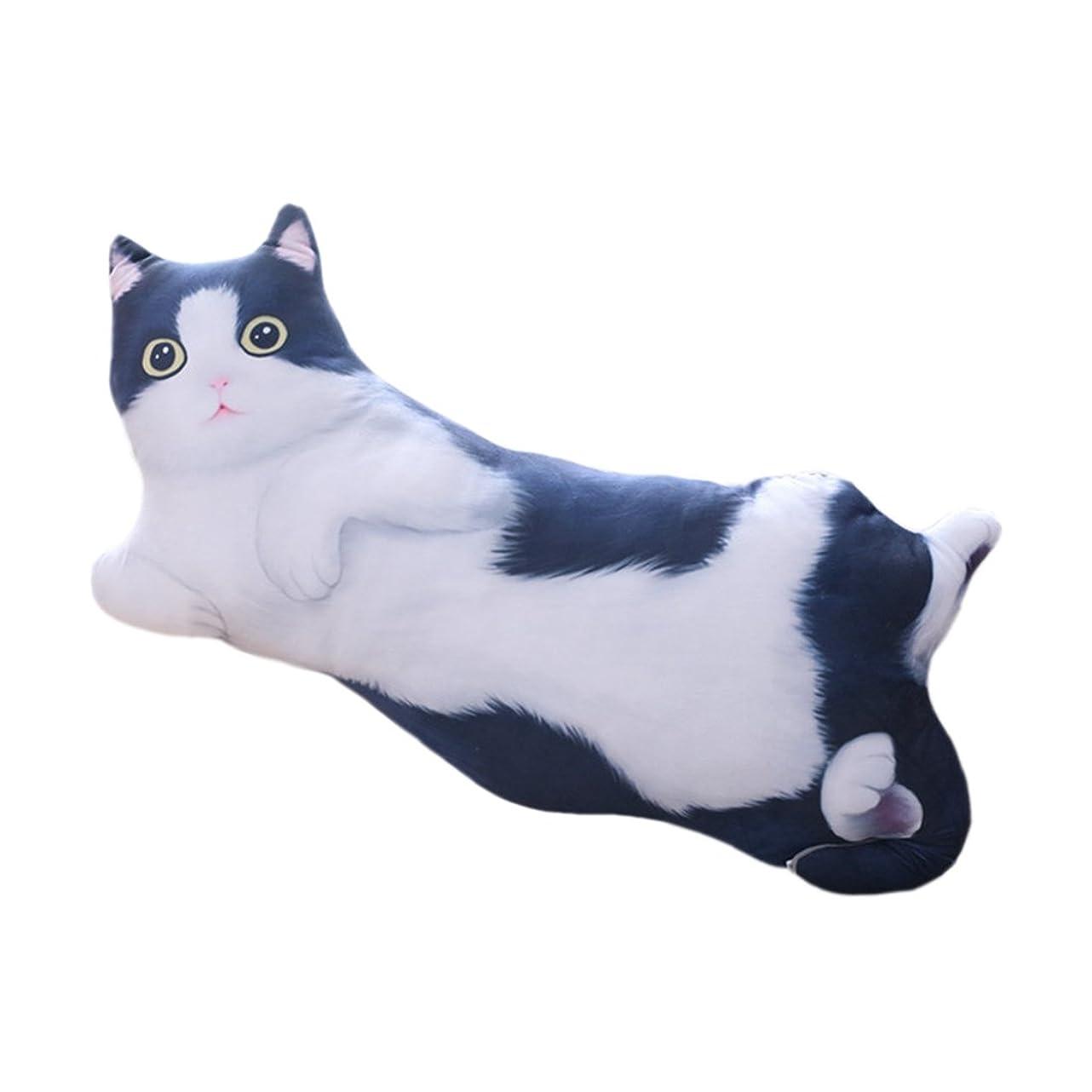 編集する骨髄予想外新作店舗 彼女100CMブラックぬいぐるみ猫猫小娘枕クッション本物のかわいいふわふわもちもちの大きな誕生日のお祝いの贈り物ギフト内装のベッドルーム M ブラック