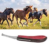 Cuchillo para pezuñas, herramienta de limpieza para pezuñas práctica para caballos en miniatura para caballos ordinarios para herrador