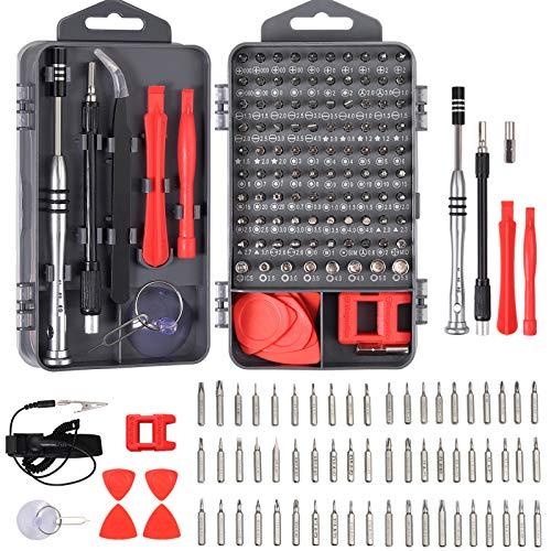 COLFULINE Schraubendreher Set , 115 in 1 Feinmechaniker Werkzeug Set, Präzisions-Schraubendreher Set Reparatur Tool Kit für Elektronik, Phone, Laptop, PC, Kamera