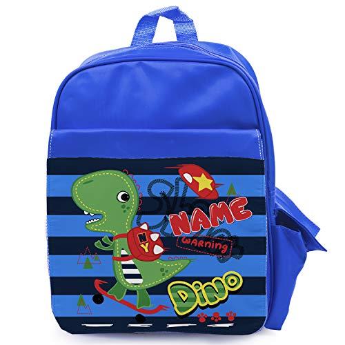 Personalised Dinosaur Boys School Bag Backpack Kids Childrens Nursery Skater KK08