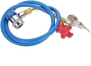 Abrebotellas de refrigerante, R134a Conector rápido R134a Manguera de recarga de refrigerante Lata de gas Tubo de conexión Puede lata para refrigerante R502 R-12 R-22