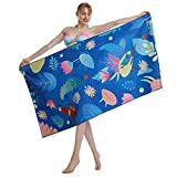 CHARS Quick Dry Beach Towel Double Sided Printed Microfiber Sports Towel Ultra Compact Travel Towel Sand Free Beach Towel for Gym, Camping, Yoga, and Picnic(Parrot, Large (31 x 63 inches)