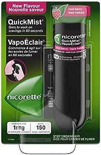 Nicorette Nicotine QuickMist Mouth Spray, Quit Smoking Aid, Cool Berry Flavour, 1mg 150 Sprays