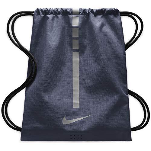 Nike Men's Hoops Elite Basketball Gym Training Drawstring Bag Sack, Navy/Black, F