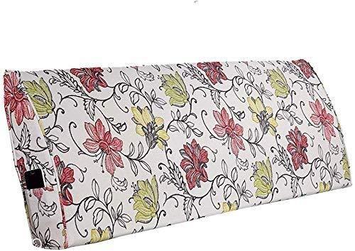 B-fengliu La Lectura de Almohadas Almohada Grande for la cabecera de la cabecera del Respaldo reposacabezas tapizados cojín extraíble Cojines lumbares (Color : C, Size : 200cmX10cmX50cm)