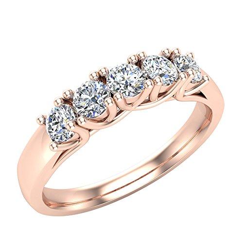 Glitz Design Mujer Niños Hombre Unisex oro 14 quilates (585) oro rosa 14ct round-brilliant-shape G-H Diamond