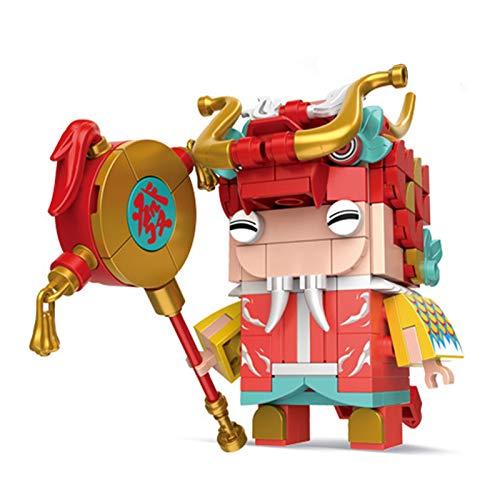 YYDE Juguetes de ensamblaje, construcción de Edificios de construcción, Bloques de construcción Juguetes de Regalo, Juguetes de Regalo de año Nuevo Chino,Dragon Dancer