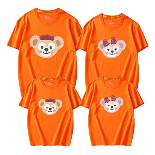 SANDA T-Shirt Mujer,2021 Ropa para Padres e Hijos Nuevo jardn de Infantes Moda de Primavera Madre-Hija Madre-Hijo algodn de Manga Corta Vestido de Verano de Animales-Naranja_XL Femenino