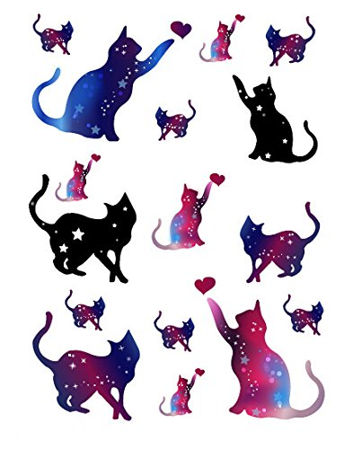 SanerLian Dealing full price reduction Waterproof Temporary Fake Tattoo Pi Cute Stickers Courier shipping free shipping Blue