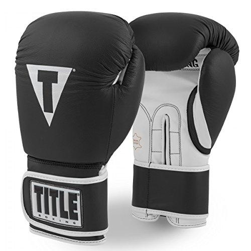 Title Pro Style Leather Training Gloves 3.0, Black/White, 12 oz