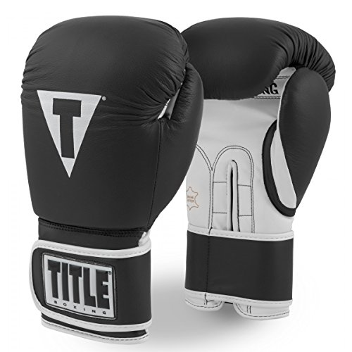 Title Pro Style Leather Training Gloves 3.0, Black/White, 12 oz