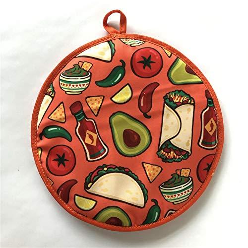 HeNai Tortilla Warmer Tortillas Taco para Mehlhalter-Tortilla Warmer Beutel Isolierter mikrowellengeeigneter Stoffbeutelhalter -für Maismehl Burrito