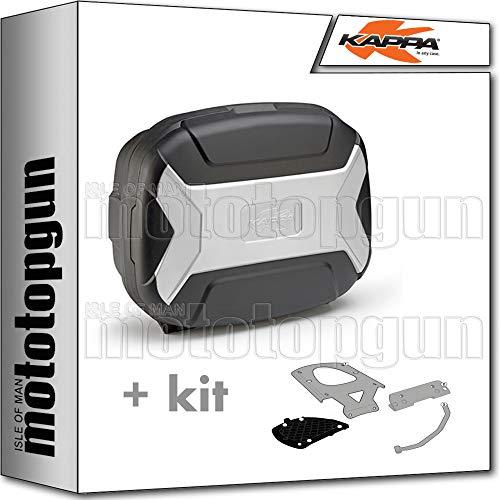 kappa maleta kvc35 k'vector 35 lt + portaequipaje monokey compatible con yamaha xenter 125 150 2020 20
