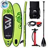 "Breeze Stand Up Paddle Board 9.0"" Grün aufblasbar iSUP im Set, 275 x 76 x 12 cm"