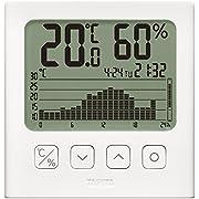 タニタ 温湿度計 デジタル グラフ付 ホワイト TT-580 WH 温湿度の変化を確認