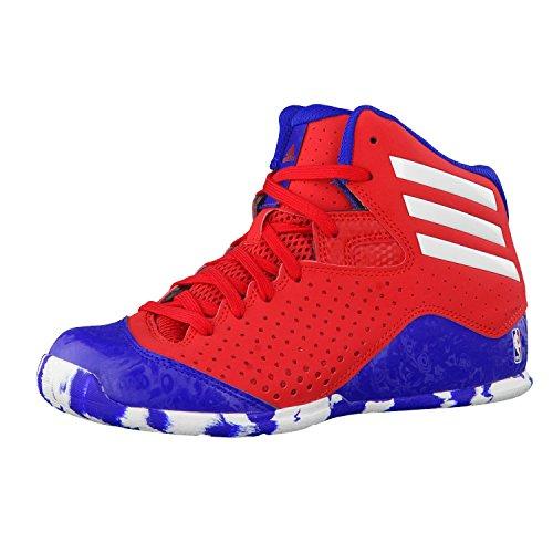 adidas NXT LVL SPD IV NBA K, Zapatillas de Baloncesto Unisex niños, Rojo/Blanco/Azul (Escarl/Ftwbla/Reauni), 28